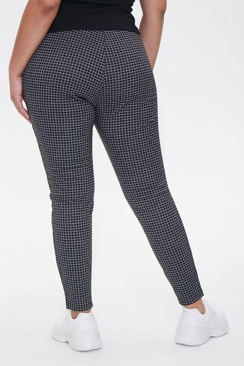 Plus Size Checkered Print Leggings, image 4