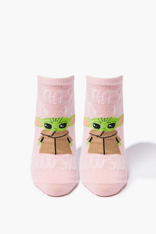 Baby Yoda Graphic Ankle Socks, image 1