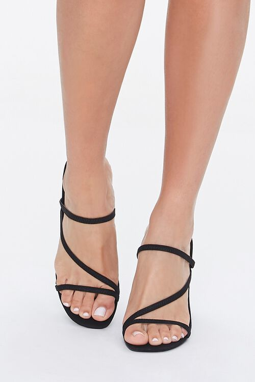Faux Nubuck Strappy Heels, image 4