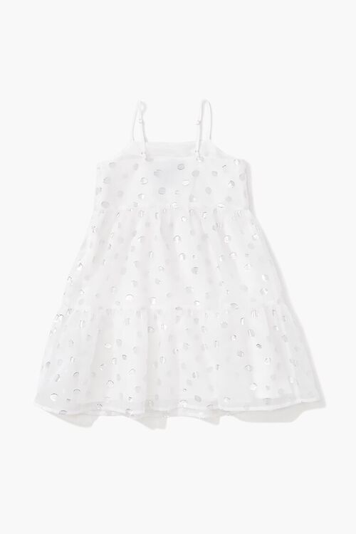 Girls Metallic Polka Dot Dress (Kids), image 2
