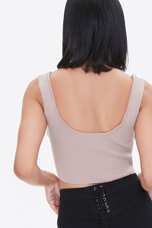 Sweater-Knit Cropped Tank Top, image 4