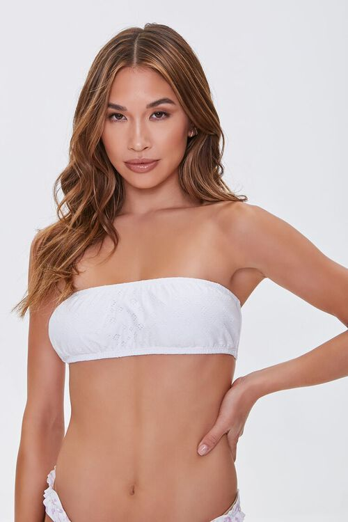 Pointelle Bralette Bikini Top, image 1
