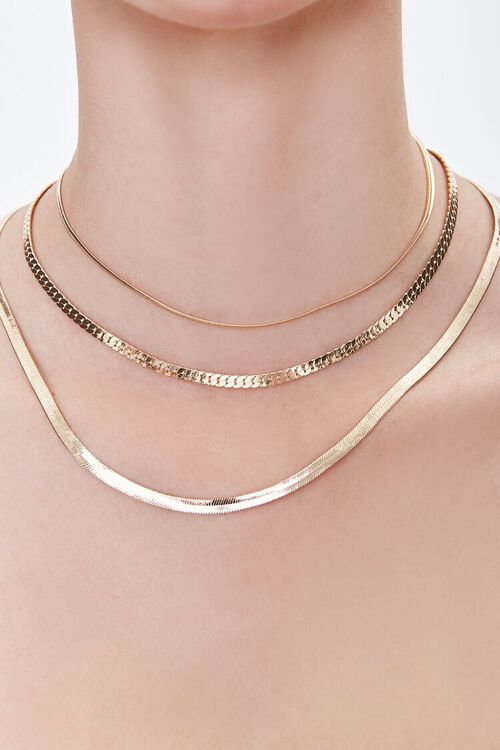 GOLD Layered Chain Necklace, image 2