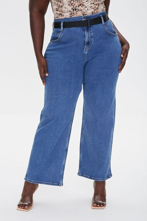 Plus Size High-Rise Straight Jeans, image 2