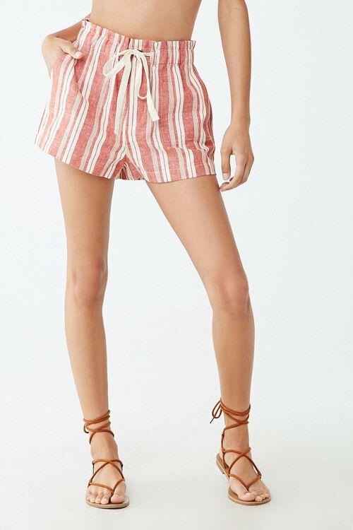Linen-Blend Striped Shorts, image 2