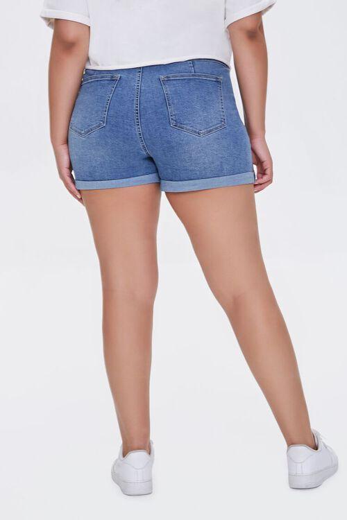 Plus Size Denim Curvy Shorts, image 5