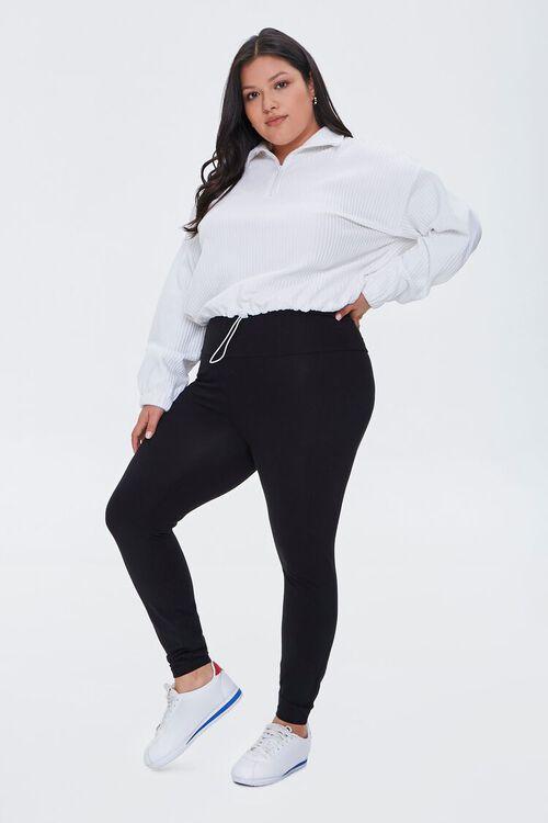 Plus Size High-Rise Long Leggings, image 1