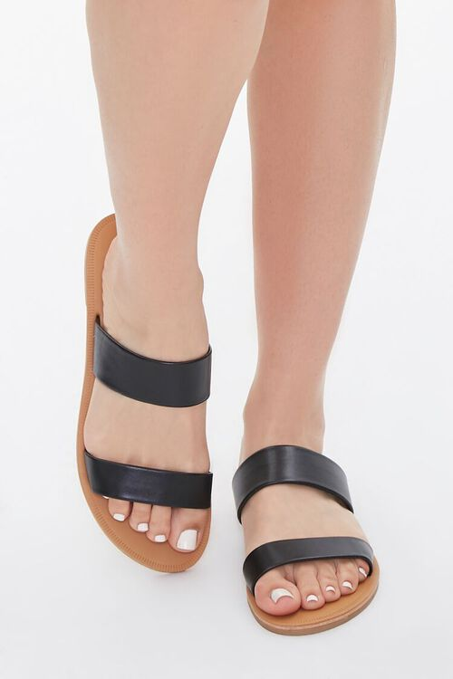 Faux Leather Dual-Strap Sandals, image 4