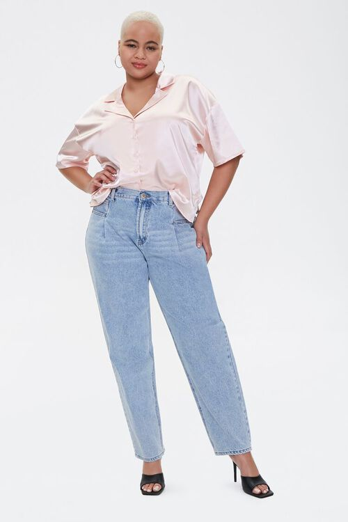 Plus Size Darted Straight-Leg Jeans, image 1