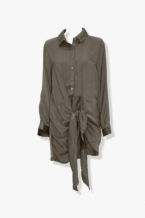 Tie-Front Shirt Dress, image 1