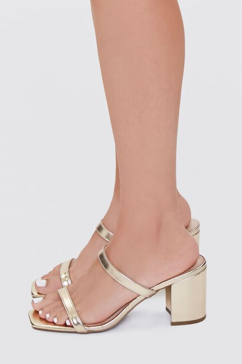 Metallic Slip-On Block Heels, image 2