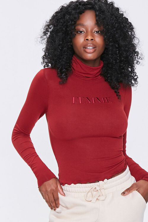 Embroidered Femme Top, image 1