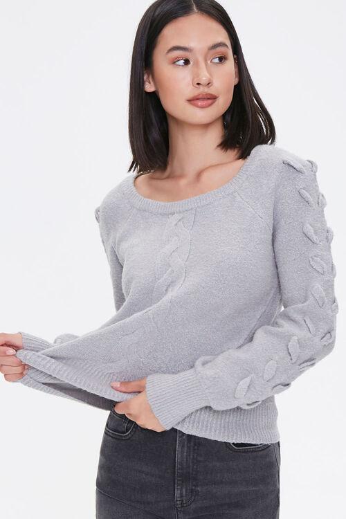 Lace-Up Sleeve Sweater, image 1