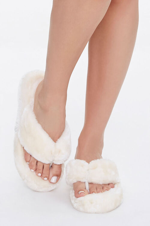 Plush Thong Slippers, image 4