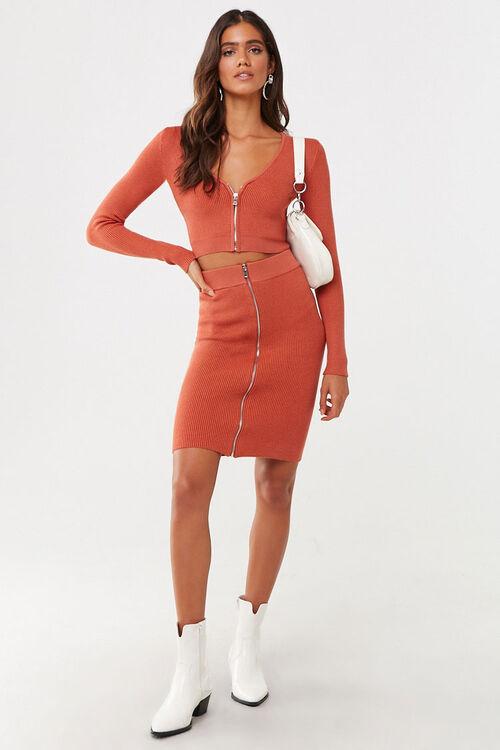 Zip-Front Mini Skirt, image 5