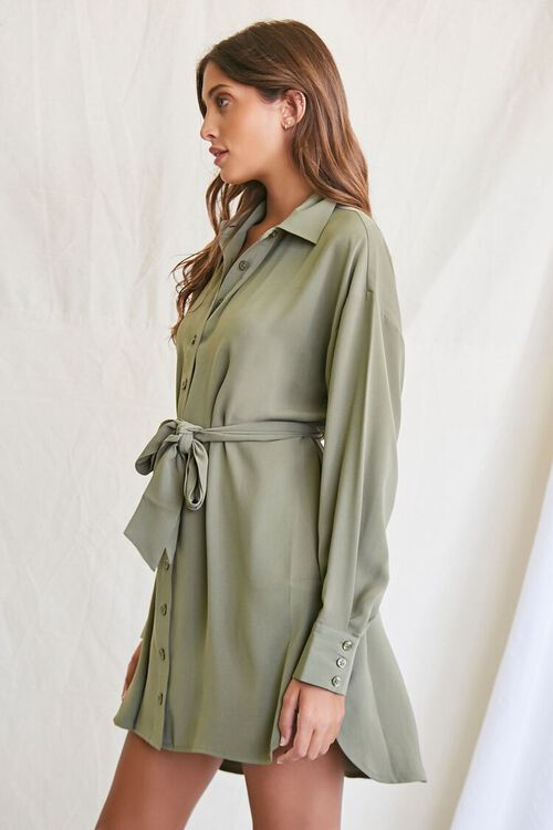 OLIVE Tie-Waist Shirt Dress, image 2
