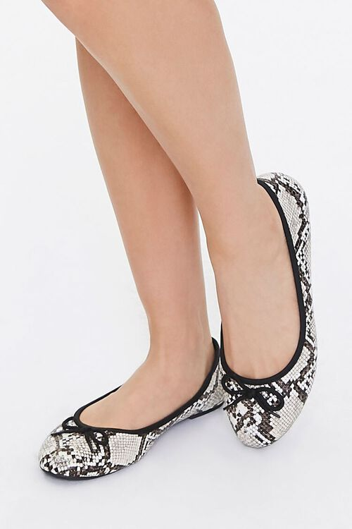 Faux Snakeskin Flats, image 1