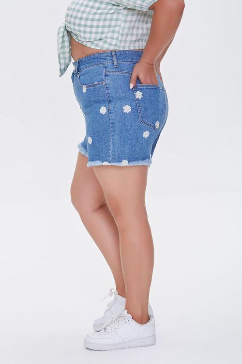 Plus Size Daisy Denim Shorts, image 3