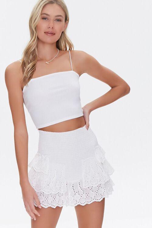 Smocked Flounce Mini Skirt, image 1
