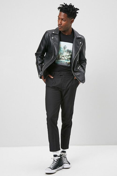 Slim-Fit Woven Trousers, image 4