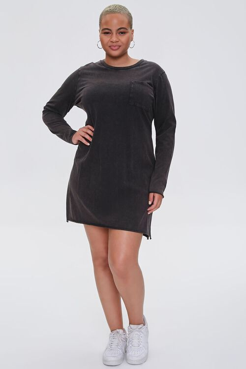 Plus Size Long-Sleeve T-Shirt Dress, image 4