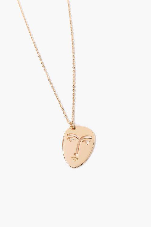 Face Pendant Necklace, image 1
