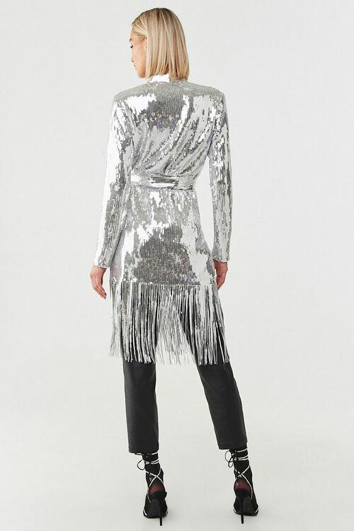 Sequin Fringe Wrap Coat, image 3