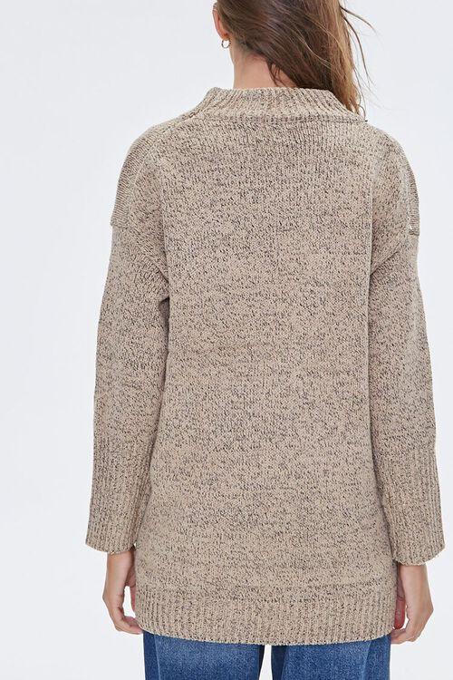 Marled Mock Neck Sweater, image 3