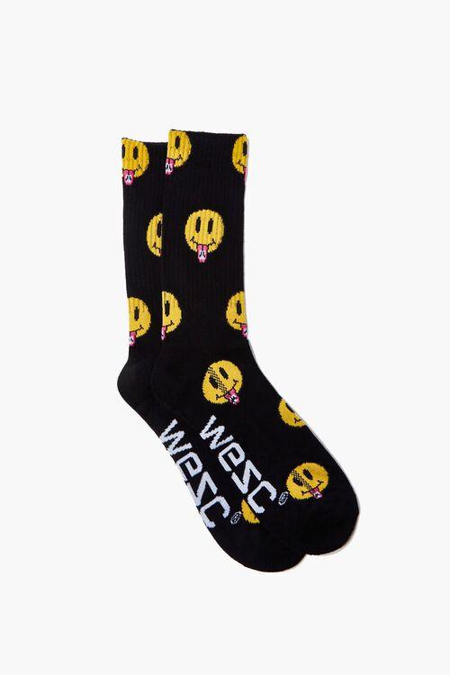 Men WESC Tongue Out Print Crew Socks, image 1
