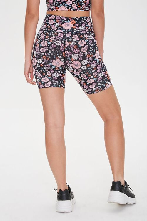 Active Floral Print High-Rise Biker Shorts, image 4