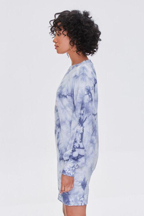 BLUE/MULTI Tie-Dye Floral Graphic Dress, image 2