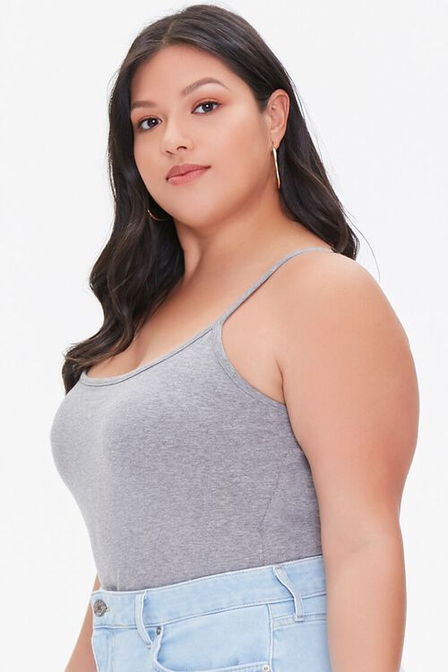 Plus Size Basic Organically Grown Cotton Bodysuit, image 2