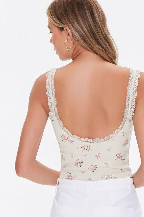Floral Print Lace-Trim Cami, image 3