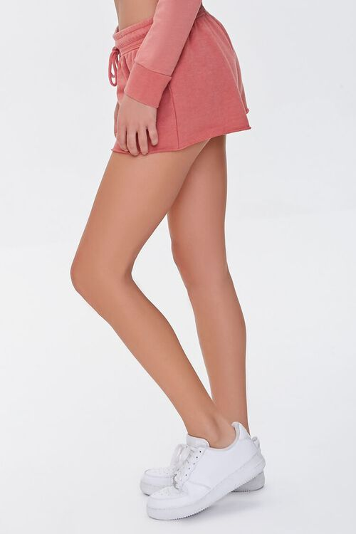 FADED ROSE Active French Terry Shorts, image 3