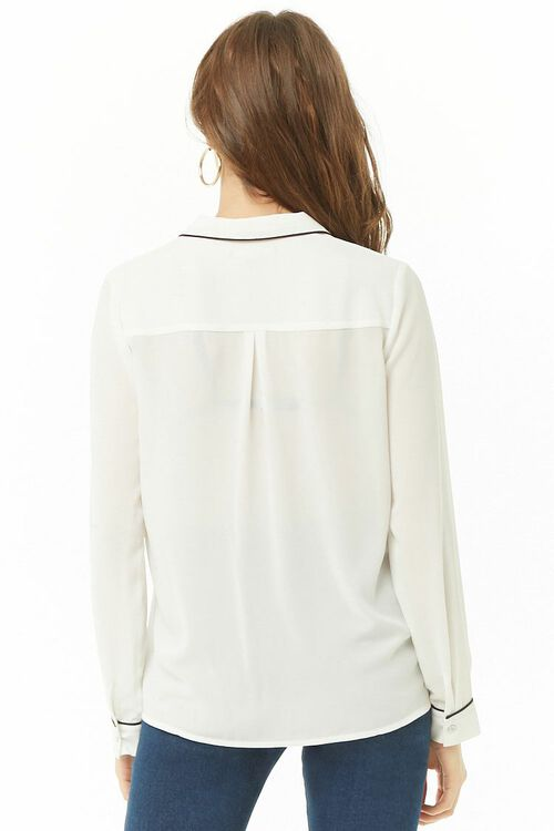 Sheer Pajama-Inspired Shirt, image 3