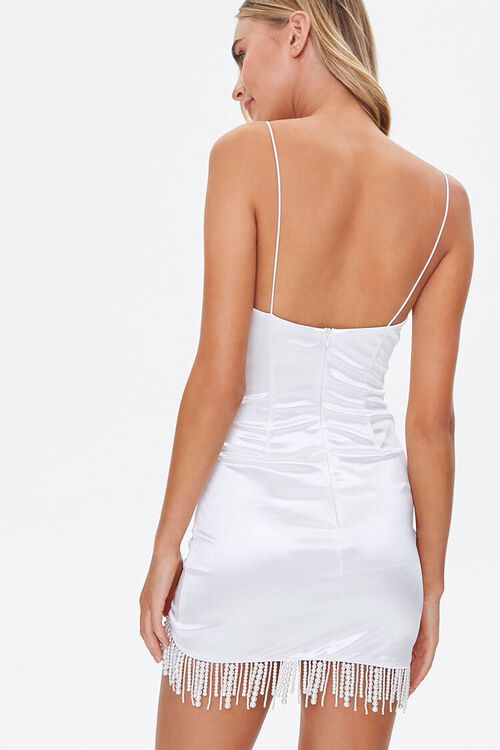 Faux Pearl Cami Mini Dress, image 3