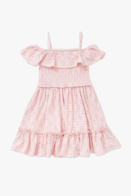 Girls Open-Shoulder Eyelet Dress (Kids), image 1