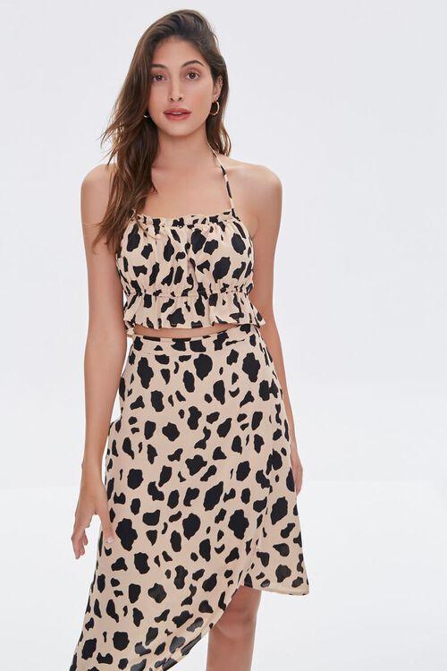 Cow Print Tulip-Hem Skirt, image 5