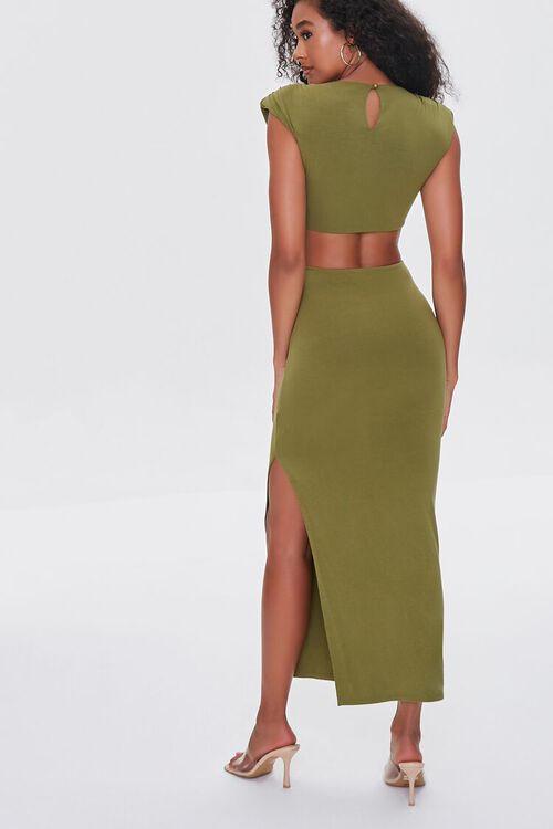 BROWN O-Ring Cutout Maxi Dress, image 3