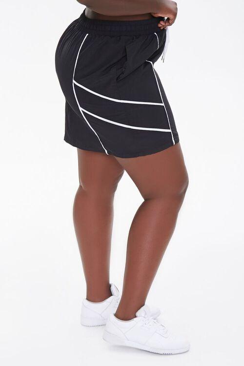 Plus Size Drawstring Mini Skirt, image 3