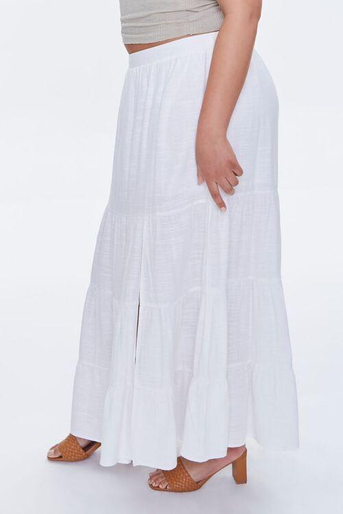 Plus Size Linen Maxi Skirt, image 3