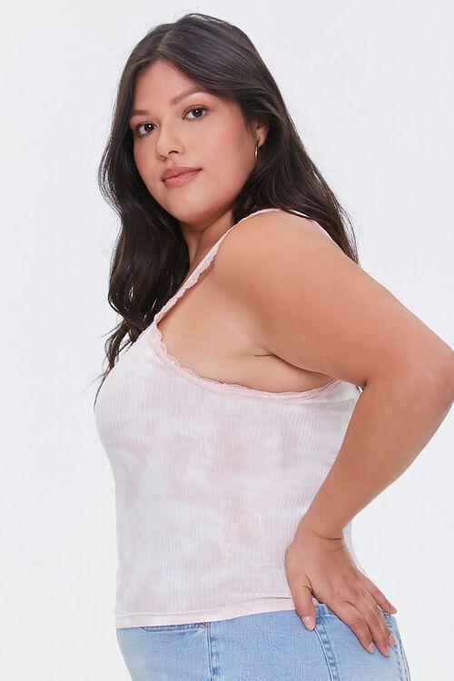 BLUSH/WHITE Plus Size Tie-Dye Cami, image 2