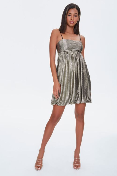 Metallic Fit & Flare Dress, image 4