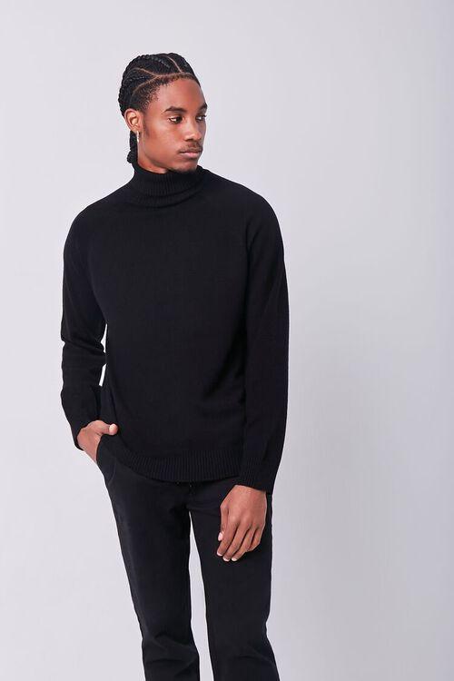 BLACK Turtleneck Raglan Sweater, image 1