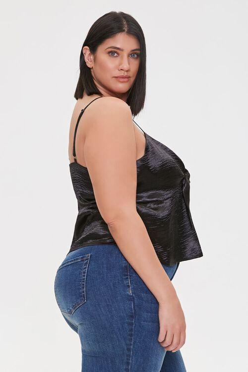 Plus Size Satin Flounce Cami, image 2