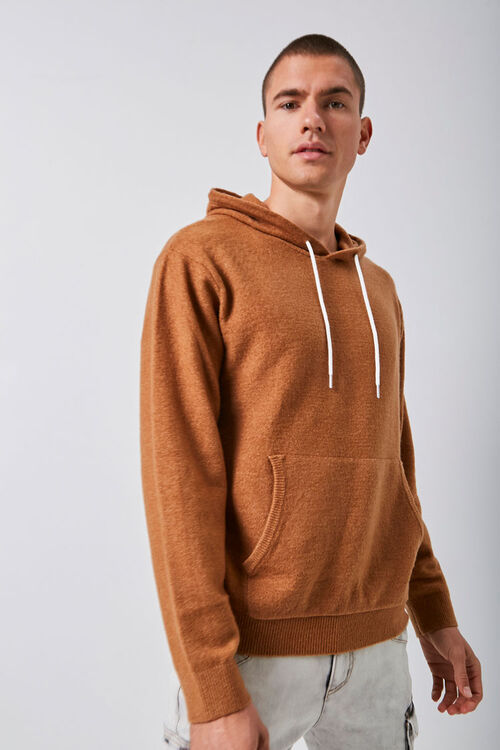 Hooded Knit Sweater, image 1