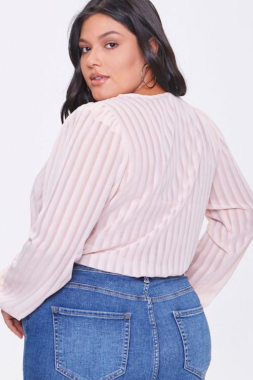 Plus Size Shadow Striped Bodysuit, image 3