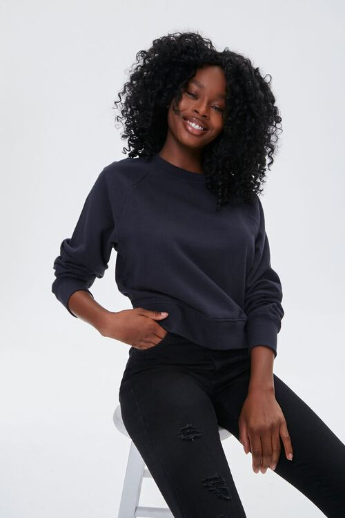French Terry Crew Pullover, image 1