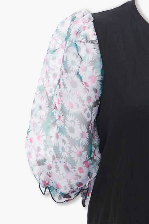 Plus Size Floral Puff Sleeve Dress, image 3