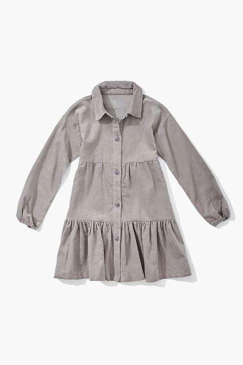 GREY Girls Flounce Shirt Dress (Kids), image 1